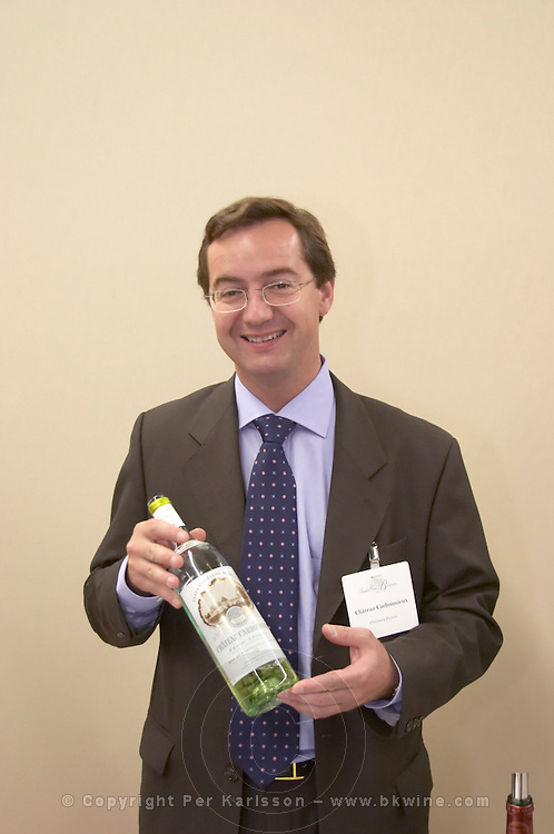 Philibert Perring of the owner family. Chateau Carbonnieux, Pessac Leognan, Graves, Bordeaux, France