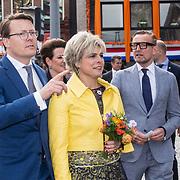 NLD/Groningen/20180427 - Koningsdag Groningen 2018,  Prins Constantijn en Prinses Laurentien en Prinses  Bernhard Jr,