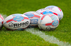 General view of Betfred balls on the pitch ahead of the match
