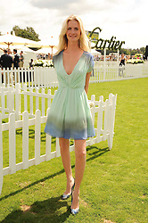 CHLOE DELEVINGNE at the Cartier International Polo at Guards Polo Club, Windsor Great Park, Berkshire on 25th July 2010.