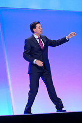 © Licensed to London News Pictures. 02/10/2012. Manchester, UK . Ed Miliband during the Scottish Report session . Labour Party Conference Day 3 at Manchester Central . Photo credit : Joel Goodman/LNP