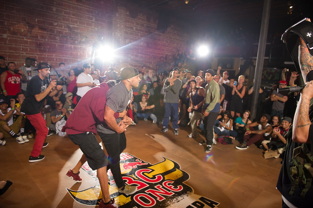 Bboy Omen Celibrates at Red Bull BC One Cypher at 535 Nova in Tampa, FL, USA, on June 25, 2012