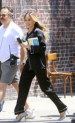 June 16, 2018 - New York, New York, United States - Actress Sarah Jessica Parker shoots a commercial for Italian Lingerie company Intimissimi in the West Village on June 16 2018 in New York City  (Credit Image: © John Sheene/Ace Pictures via ZUMA Press)