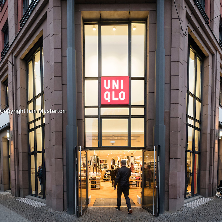 Uniqlo clothing store in Hackescher Markt Mitte, Berlin, Germany
