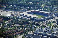 Ullevaal stadion i Oslo. Hjemmebanen til Vålerenga og Lyn og det norske landslaget.<br /> Flyfoto / Arena / Aerial Photo Oslo, 29. juli 2008.<br /> Foto: Peter Tubaas/Digitalsport