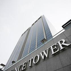 BELGIQUE - BRUXELLES - 13 Octobre 2008 - Finance Tower de Bruxelles - Service publique fÈdÈral des finances - SPF Finance - Immeuble - Logo © Scorpix / P.Mascart..-----..BELGIUM - BRUSSELS - 13 October 2008 -  Finance Tower of Brussels - Belgian Federal Public Service of finance - Building - logo - SPF Finance  © Scorpix / P.Mascart
