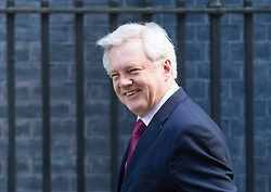 Downing Street, London, February 28th 2017. Secretary of State for Exiting the European Union David Davis attends the weekly cabinet meeting at 10 Downing Street in London.