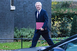 Downing Street, London, November 29th 2016. Secretary of State for Exiting the European Union David Davis arrives at 10 Downing Street for the weekly meeting of the UK cabinet.