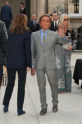 Valentino Garavani attending the Valentino's Spring-Summer 2016/2017 Ready-To-Wear collection show held at the Salomon de Rothschild Hotel in Paris, France, on October 2, 2016. Photo by Nicolas Genin/ABACAPRESS.COM