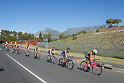 Elite Ladies race during the Discovery WTS 2016 held in Cape Town. Image by Greg Beadle