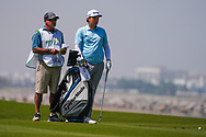 Sami Valimaki (FIN) and his caddy Kyle Roadley on the 9th during Round 3 of the Oman Open 2020 at the Al Mouj Golf Club, Muscat, Oman . 29/02/2020<br /> Picture: Golffile | Thos Caffrey<br /> <br /> <br /> All photo usage must carry mandatory copyright credit (© Golffile | Thos Caffrey)
