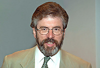 Gerry Adams, president, Provisional Sinn Fein. MLA in the new N Ireland Assembly. MP in the UK Parliament. Ref: 2001051669.<br />