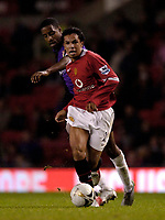 Photo: Jed Wee.<br />Manchester Utd v Barnet. Carling Cup. 26/10/2005.<br /><br />Manchester United's Kieran Richardson is one of the few first team regulars in the side that takes on Barnet.