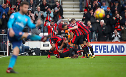 AFC Bournemouth's Jordon Ibe celebrates scoring his side's second goal of the game with team mates