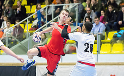 07.01.2017, BSFZ Suedstadt, Maria Enzersdorf, AUT, IHF Junior WM 2017 Qualifikation, Österreich vs Tschechische Republik, im Bild Daniel Kyvala (CZE) // during the IHF Men's Junior World Championships qualifying match between Austria and Czech Republic at the BSFZ Suedstadt, Maria Enzersdorf, Austria on 2017/01/07, EXPA Pictures © 2017, PhotoCredit: EXPA/ Sebastian Pucher