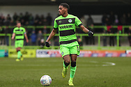 Forest Green Rovers Reece Brown(10) on the ball during the EFL Sky Bet League 2 match between Forest Green Rovers and Lincoln City at the New Lawn, Forest Green, United Kingdom on 2 March 2019.