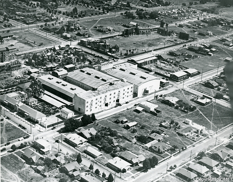 1919 Aerial of Metro Studios in Hollywood