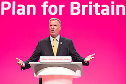 Labour Party Conference<br /> at Manchester Central, Manchester, Great Britain <br /> 24th September 2014 <br /> <br /> Bill De Blasio <br /> Mayor of New York <br /> International guest speaker <br /> <br /> Photograph by Elliott Franks <br /> Image licensed to Elliott Franks Photography Services
