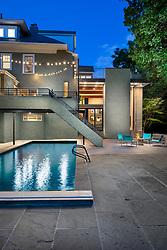 3122 Newark House Kitchen, Great Room, pool, Exterior patio , pool, exterior, Rear yard, twilight VA2_229_899