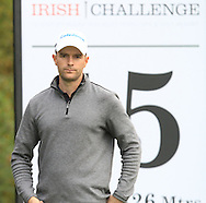 Marcel Schneider (GER) on the 5th tee during Round 2 of the Volopa Irish Challenge in Tullow, Co. Carlow on Friday 9th October 2015.<br /> Picture:  Thos Caffrey / www.golffile.ie