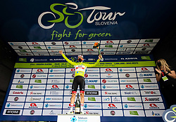 Winner in overall classification Tadej POGACAR of UAE TEAM EMIRATES celebrates at trophy ceremony after the 2nd Stage of 27th Tour of Slovenia 2021 cycling race between Zalec and Celje (147 km), on June 10, 2021 in Slovenia. Photo by Vid Ponikvar / Sportida