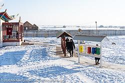 Ivolginsky Datsan, Buddhist temple and community and home of the preserved body of Khambo Lama, located near Verkhnyaya Ivolga village in the Buryatia region of Siberia, Russia. Monday, February 24, 2020. Photography ©2020 Michael Lichter.