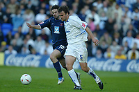Fotball<br /> England 2004/2005<br /> Foto: SBI/Digitalsport<br /> NORWAY ONLY<br /> <br /> Tranmere Rovers v Hartlepool<br /> <br /> Coca-Cola League One Play-Off Semi-Final 2nd Leg. <br /> 17/05/2005. <br /> <br /> Ian Sharps of Tranmere holds off Adam Boyd of Hartlepool.