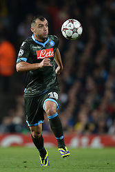LONDON, ENGLAND - Oct 01:  Napoli's forward Goran Pandev from Macedonia runs with the ball during the UEFA Champions League match between Arsenal from England and Napoli from Italy played at The Emirates Stadium, on October 01, 2013 in London, England. (Photo by Mitchell Gunn/ESPA)