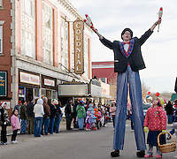 Hundreds came out and were entertained by jugglers, floats, bands and much more during  the annual Holiday Parade Sunday afternoon through downtown Laconia.  (Karen Bobotas/for the Laconia Daily Sun)