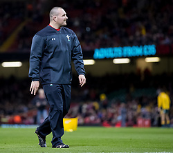 Ken Owens of Wales during the pre match warm up<br /> <br /> Photographer Simon King/Replay Images<br /> <br /> Under Armour Series - Wales v Australia - Saturday 10th November 2018 - Principality Stadium - Cardiff<br /> <br /> World Copyright © Replay Images . All rights reserved. info@replayimages.co.uk - http://replayimages.co.uk