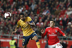 December 23, 2018 - Lisbon, Portugal - Franco Cervi of Benfica  (R) vies for the ball with Marcelo Goiano of Braga (L)  during the Portuguese League football match between SL Benfica and SC Braga at Luz Stadium in Lisbon on December 23, 2018. (Credit Image: © Carlos Palma/NurPhoto via ZUMA Press)