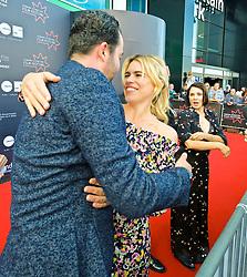 Edinburgh International Film Festival, Saturday, 23rd June 2018<br /> <br /> 'TWO FOR JOY' World Premiere<br /> <br /> Pictured:  Daniel Mays, Billie Piper and Sadie Frost<br /> <br /> (c) Alex Todd   Edinburgh Elite media