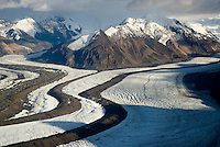 Aerial view of the Saint Elias Range, Wrangell-St. Elias National Park Alaska