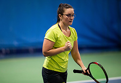 Moni Potrc in action during Slovenian National Tennis Championship 2019, on December 21, 2019 in Medvode, Slovenia. Photo by Vid Ponikvar/ Sportida