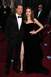 Brad Pitt and Angelina Jolie arriving at the 84th Annual Academy Awards, held at the Kodak Theatre in Los Angeles, CA, USA on February 26, 2012. Photo by Lionel Hahn/ABACAPRESS.COM