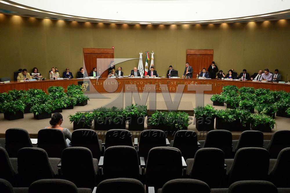 Toluca, México (Abril 29, 2016).- Sesión extraordinaria del Consejo General del Instituto Electoral del Estado de México.  Agencia MVT / Crisanta Espinosa