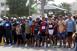 August 17, 2017 - Gaza City, Gaza Strip - Palestinians take part in a marathon in Gaza City. (Credit Image: © Mohammed Asad/APA Images via ZUMA Wire)
