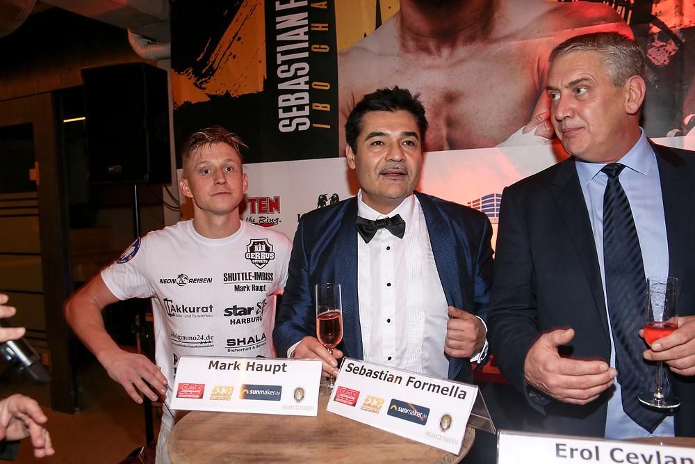 BOXEN: EC Boxing & SES Boxing, Hamburg, 18.01.2020<br /> Pressekonferenz: Sebastian Formella, Promoter Erol Ceylan (EC Boxing) und Promoter Ulf Steinforth (SES Boxing)<br /> © Torsten Helmke