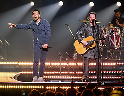 Jonas Brothers performing live on stage during their 'Happiness Begins Tour' at SSE Hydro, Glasgow <br /> <br /> (c) Aimee Todd | Edinburgh Elite media
