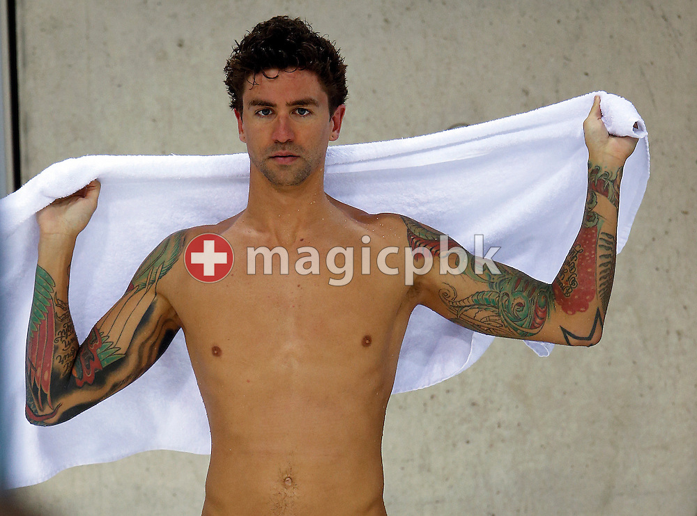 Anthony Ervin of the United States of America (USA) is pictured during a training session prior to the Swimming competition held at the Aquatics Center during the London 2012 Olympic Games in London, Great Britain, Wednesday, July 25, 2012. (Photo by Patrick B. Kraemer / MAGICPBK)