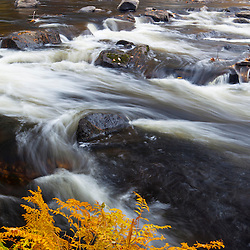 Packers Falls on the Lamprey River in Durham, New Hampshire.  Fall.