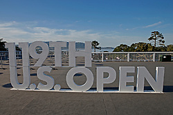 June 11, 2019 - Pebble Beach, CA, U.S. - PEBBLE BEACH, CA - JUNE 11: Signage seen near the Fan Zone during a practice round for the 2019 US Open on June 11, 2019, at Pebble Beach Golf Links in Pebble Beach, CA. (Photo by Brian Spurlock/Icon Sportswire) (Credit Image: © Brian Spurlock/Icon SMI via ZUMA Press)