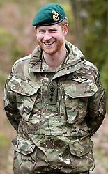 The Duke of Sussex visits 42 Commando Royal Marines at Bickleigh Barracks to carry out a Green Beret presentation in Dartmoor National Park, Devon, UK, on the 20th February 2019. Picture by Finnbarr Webster/WPA-Pool. 20 Feb 2019 Pictured: Prince Harry, Duke of Sussex. Photo credit: MEGA TheMegaAgency.com +1 888 505 6342