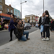 Camden Town district in northwest London, on the London canal network. Its industrial heritage has made way for retail, tourism and entertainment, including a number of internationally renowned markets and music venues that are strongly associated with alternative culture.