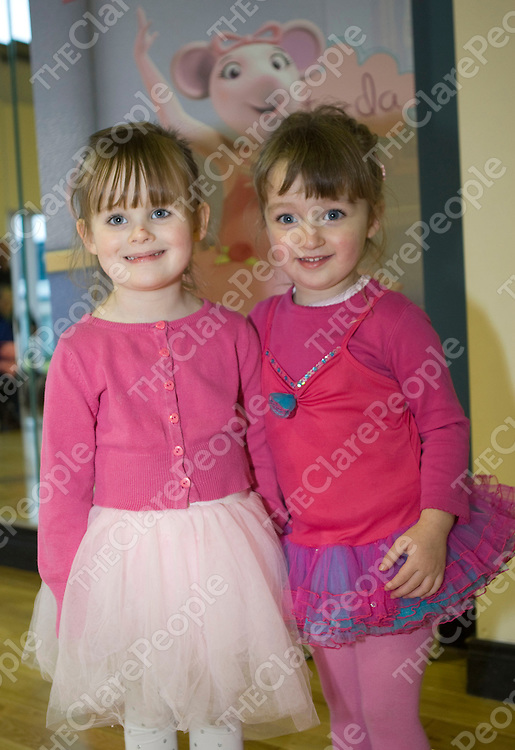 15/11/2011  Attending the Angelina Ballerina event and visit in the Break Through Dance Academy, unit 9, Abbey Park, Quin road Business Park, Ennis were Kayla Conlon(3) and Caitlin Quinn(3) both from Ennis.<br /> Picture Liam Burke/Press 22