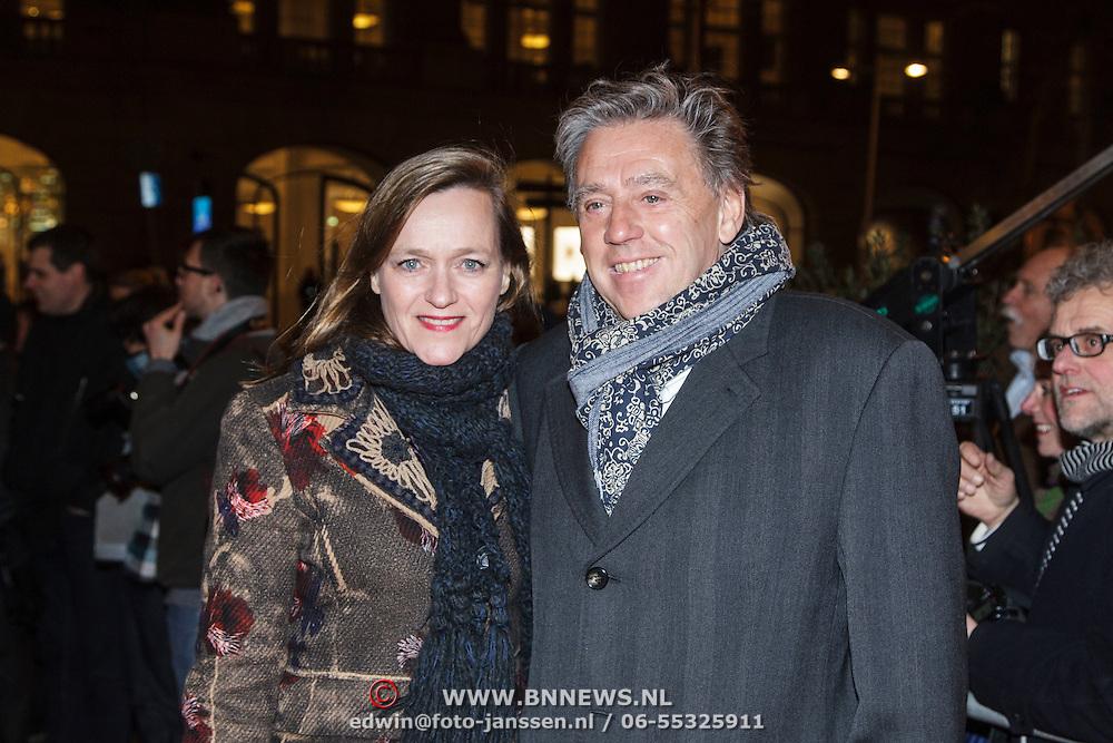 NLD/Amsterdam/20150306 - Boekenbal 2015, Ed Nijpels en partner Elsbeth Janmaat