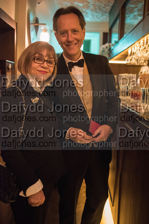 JOAN WASHINGTON; RICHARD E. GRANT, Nicky Haslam hosts dinner at  Gigi's for Leslie Caron. 22 Woodstock St. London. W1C 2AR. 25 March 2015
