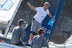 Richard Sydenham calls an overlap for Ian Williams during the repechage of the Argo Group Gold Cup 2010. Hamilton, Bermuda. 8 October 2010. Photo: Subzero Images/WMRT