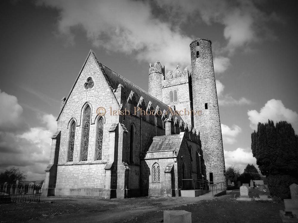 St Macculinís Church, Lusk, Co.Dublin, c.9th round tower, c.15th keep, c.19th church