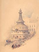 Oriental Scene watercolor by David Roberts